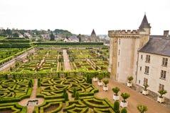 Jardín de Villandry del castillo francés Foto de archivo