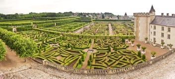 Jardín de Villandry del castillo francés Fotos de archivo libres de regalías