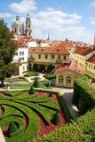 Jardín de Vrtba de Praga Fotos de archivo libres de regalías