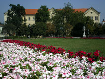 Jardín de Zagreb foto de archivo