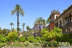 Jardín del Alcazar de Sevilla Imágenes de archivo libres de regalías
