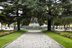 Jardín del Alcazar del EL de Segovia Fotografía de archivo libre de regalías