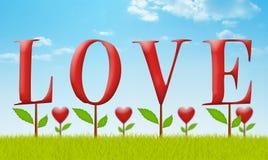 Jardín del amor Imágenes de archivo libres de regalías