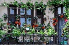 Jardín del balcón Imagenes de archivo