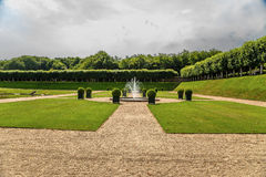 Jardín del callejón del castillo de Villandry, Francia Foto de archivo libre de regalías