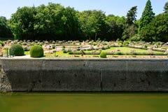Jardín del castillo Chateau de Chenonceau Foto de archivo