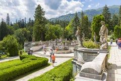 Jardín del castillo de Peles Foto de archivo libre de regalías