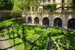 Jardín del castillo de Schwerin Fotos de archivo libres de regalías