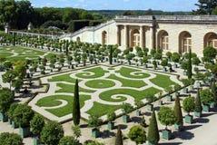 Jardín del castillo de Versalles (Francia) foto de archivo