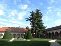 Jardín del castillo en Telc Fotos de archivo