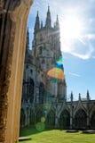 Jardín del claustro en la catedral Kent Reino Unido de Cantorbery Fotografía de archivo libre de regalías
