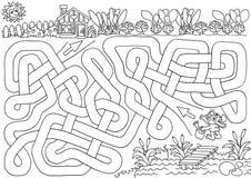 Jardín del conejito ilustración del vector