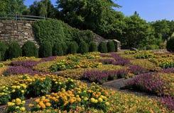 Jardín del edredón del arboreto del NC imagen de archivo