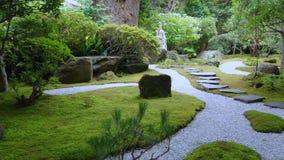Jardín del estilo de Japón en Kamakura almacen de metraje de vídeo