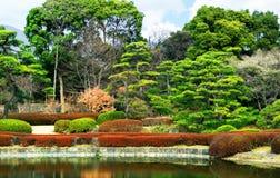 Jardín del estilo japonés fotos de archivo