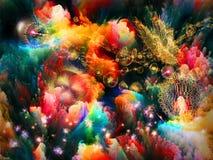 Jardín del fractal. Imagen de archivo
