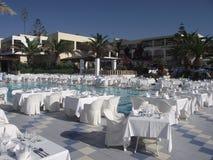Jardín del hotel en el hotel en Creta Fotos de archivo libres de regalías