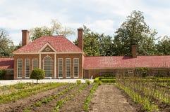 Jardín del invernadero del Mt Vernon Foto de archivo