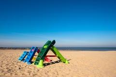 Jardín del juego en la playa Imagenes de archivo