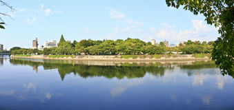 Jardín del monumento de la paz de Hiroshima Fotos de archivo libres de regalías