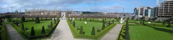 Jardín del museo del arte moderno de Dublín Imagenes de archivo