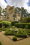 Jardín del nudo en castillo fotos de archivo