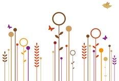 Jardín del otoño ilustración del vector