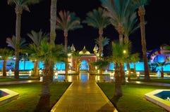 Jardín del palacio de la fantasía, Sharm el Sheikh, Egipto Imagen de archivo libre de regalías