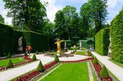 Jardín del palacio de Linderhof en Alemania Imagen de archivo