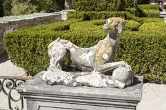 Jardín del palacio de Oeiras Fotografía de archivo libre de regalías