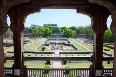 Jardín del palacio de Shaniwar Wada Imagen de archivo libre de regalías