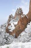 Jardín del parque de dioses en invierno Fotografía de archivo libre de regalías