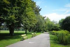 Jardín del parque de Donau Imagen de archivo libre de regalías