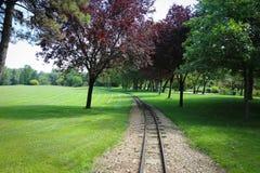 Jardín del parque de Donau Foto de archivo libre de regalías