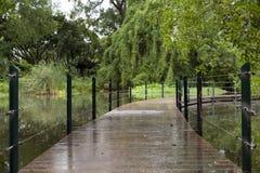 Jardín del parque en verano Imagenes de archivo