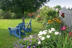 Jardín del patio trasero Fotos de archivo