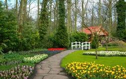 Jardín del resorte Foto de archivo libre de regalías