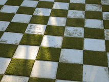 Jardín del tablero de ajedrez Foto de archivo