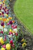 Jardín del tulipán imagenes de archivo