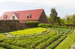 Jardín del vehículo y de la fruta de la hierba Imagen de archivo libre de regalías