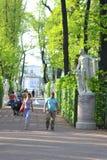 Jardín del verano del parque en StPetersburg Imagen de archivo