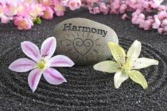 Jardín del zen de la armonía Fotos de archivo libres de regalías