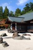 Jardín del zen en Koya-san en otoño Imagenes de archivo