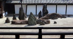 Jardín del zen en Kyoto Foto de archivo libre de regalías