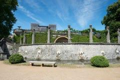 Jardín delante del palacio del naranjal imagen de archivo libre de regalías