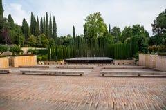 Jardín en Alhambra imagen de archivo libre de regalías