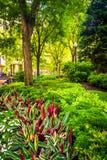 Jardín en B normando Parque de Leventhal en Boston, Massachusetts fotos de archivo libres de regalías