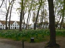 Jardín en Brujas Fotografía de archivo libre de regalías