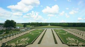 Jardín en castillo del chambord Foto de archivo libre de regalías