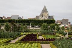 Jardín en el castillo francés de Villandry Fotografía de archivo libre de regalías